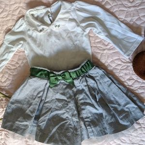 Other - Cute top and skirt 3-6 month